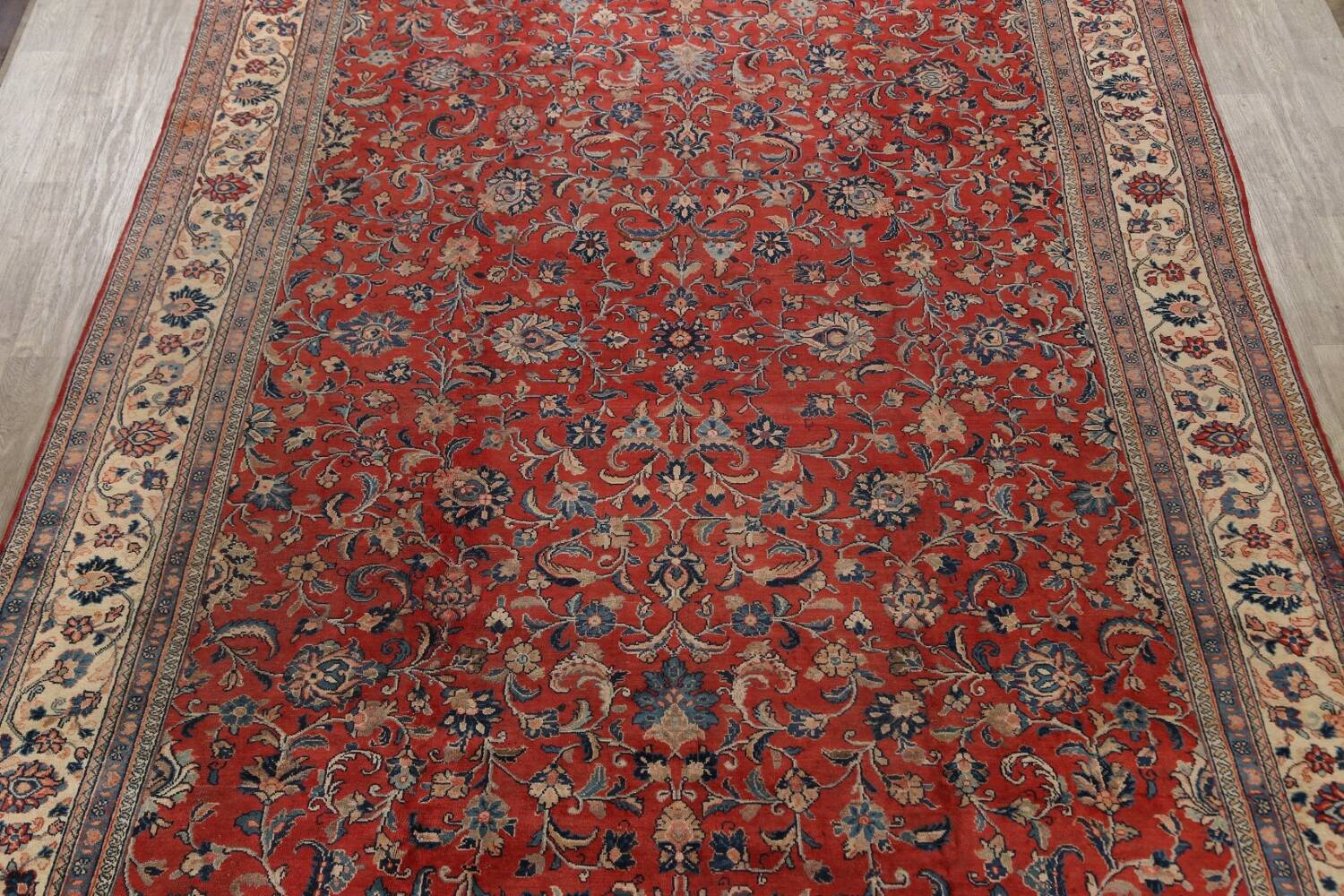Antique Floral Mahal Persian Area Rug 10x14 image 3