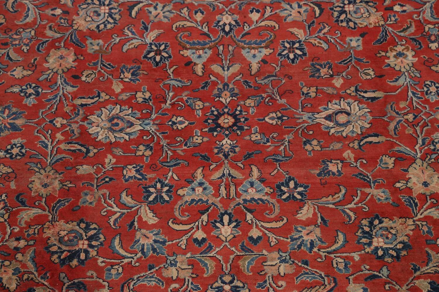 Antique Floral Mahal Persian Area Rug 10x14 image 4