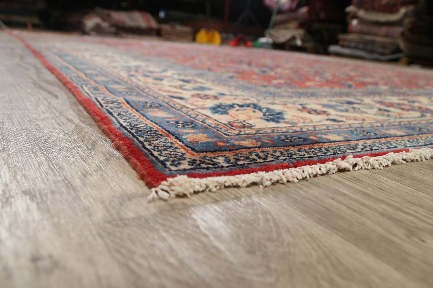 Antique Floral Mahal Persian Area Rug 10x14 image 6
