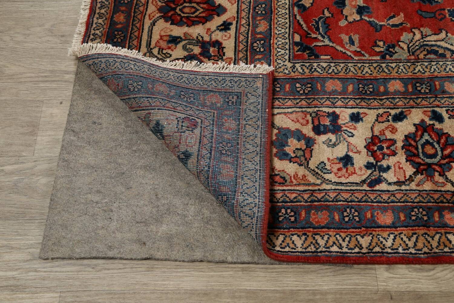 Antique Floral Mahal Persian Area Rug 10x14 image 7