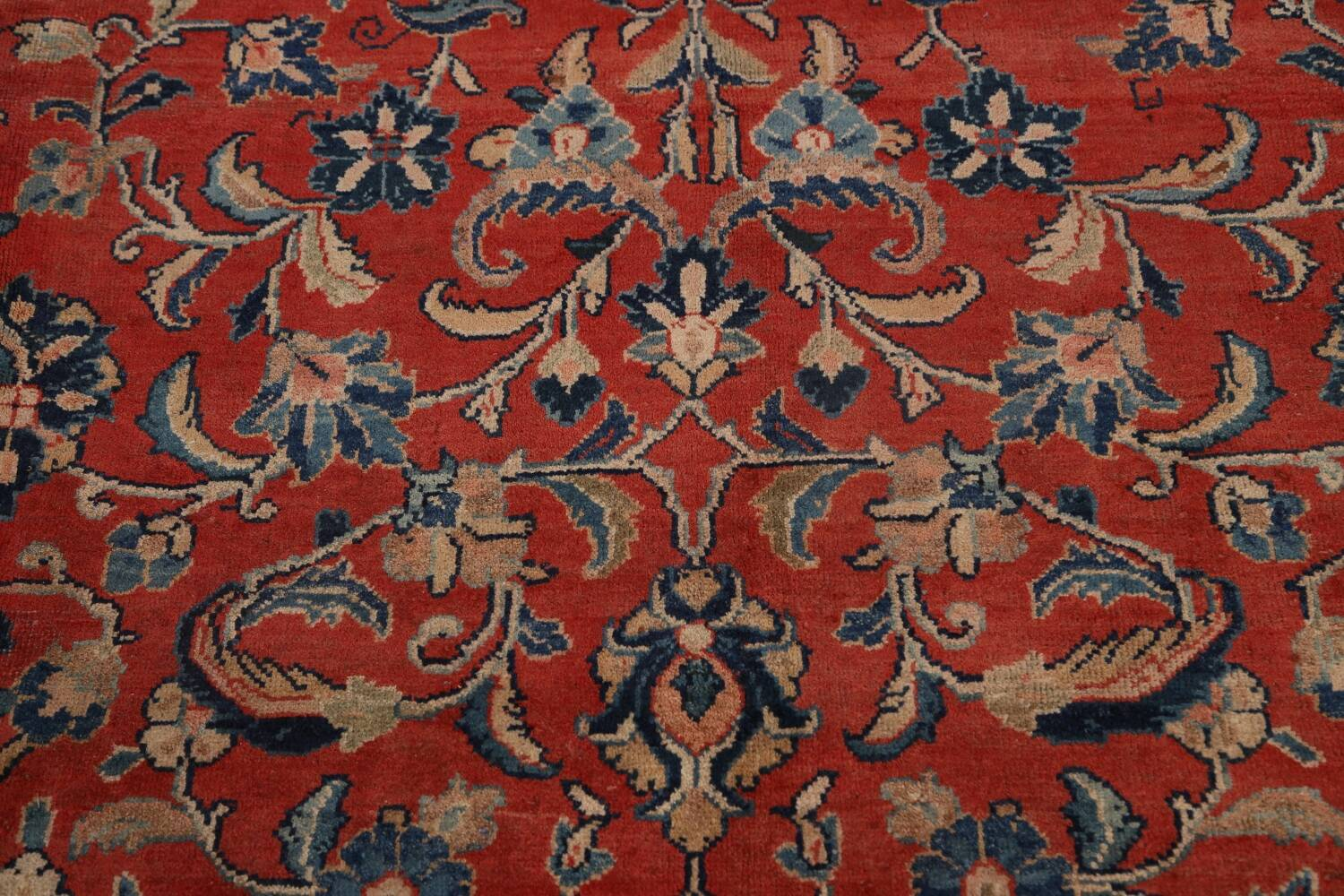 Antique Floral Mahal Persian Area Rug 10x14 image 11