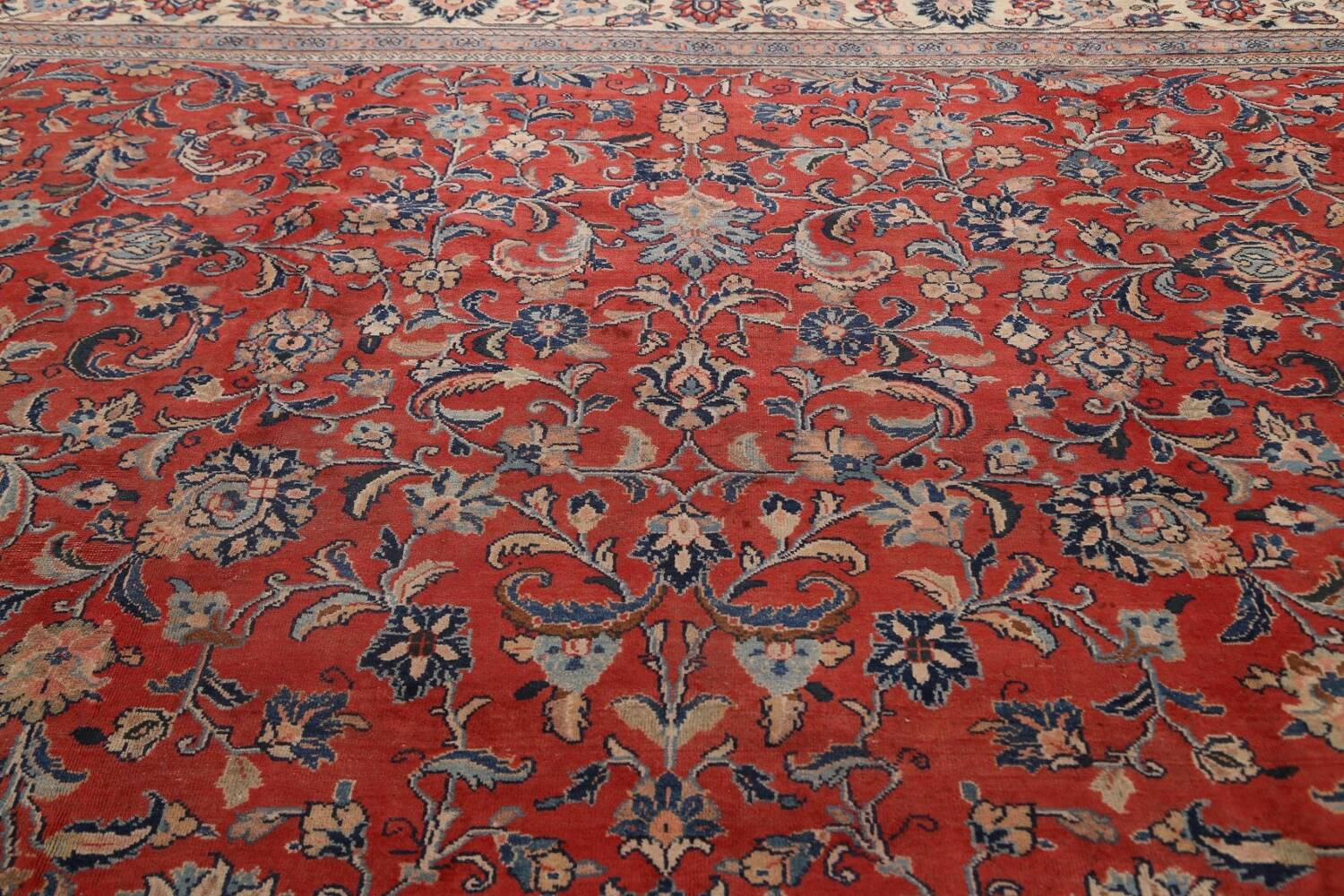 Antique Floral Mahal Persian Area Rug 10x14 image 12
