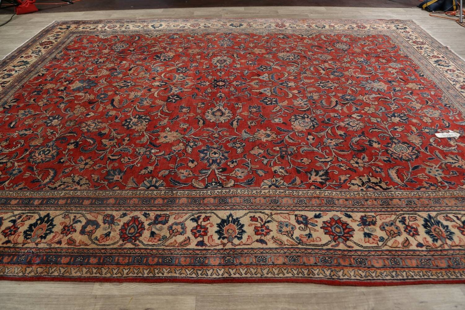 Antique Floral Mahal Persian Area Rug 10x14 image 16