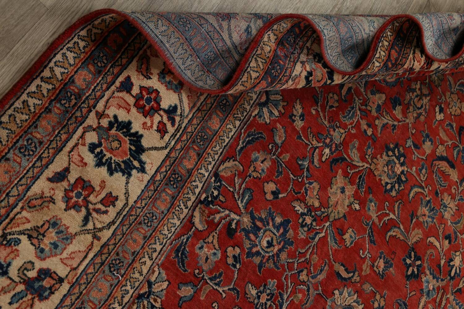 Antique Floral Mahal Persian Area Rug 10x14 image 21