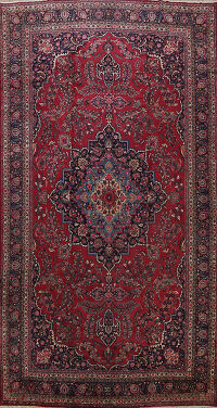 Antique Large Mashad Persian Area Rug 10x16