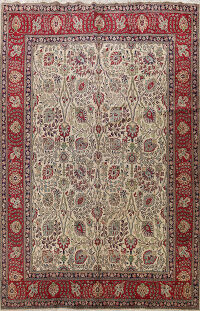 All-Over Floral Tabriz Persian Area Rug 10x13