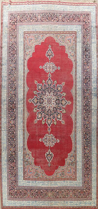 Antique 100% Vegetable Dye Dorokhsh Persian Area Rug 10x18