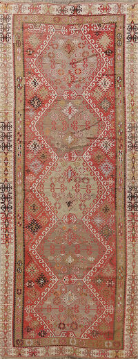 Antique Geometric kilim Persian Area Rug 6x13