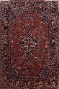 Antique Geometric Joshaghan Persian Area Rug 11x14 Large