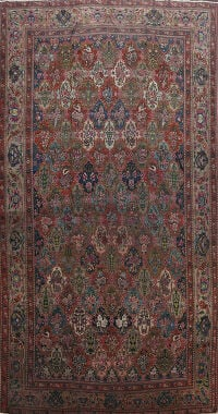Pre-1900 Antique Vegetable Dye Bakhtiari Persian Area Rug 11x19