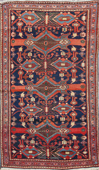 Antique Vegetable Dye Mahal Persian Area Rug 4x6