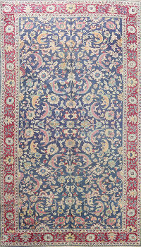 Antique Vegetable Dye Floral Sivas Persian Area Rug 8x12