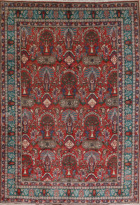 All-Over Pictorial Tabriz Persian Area Rug 9x11