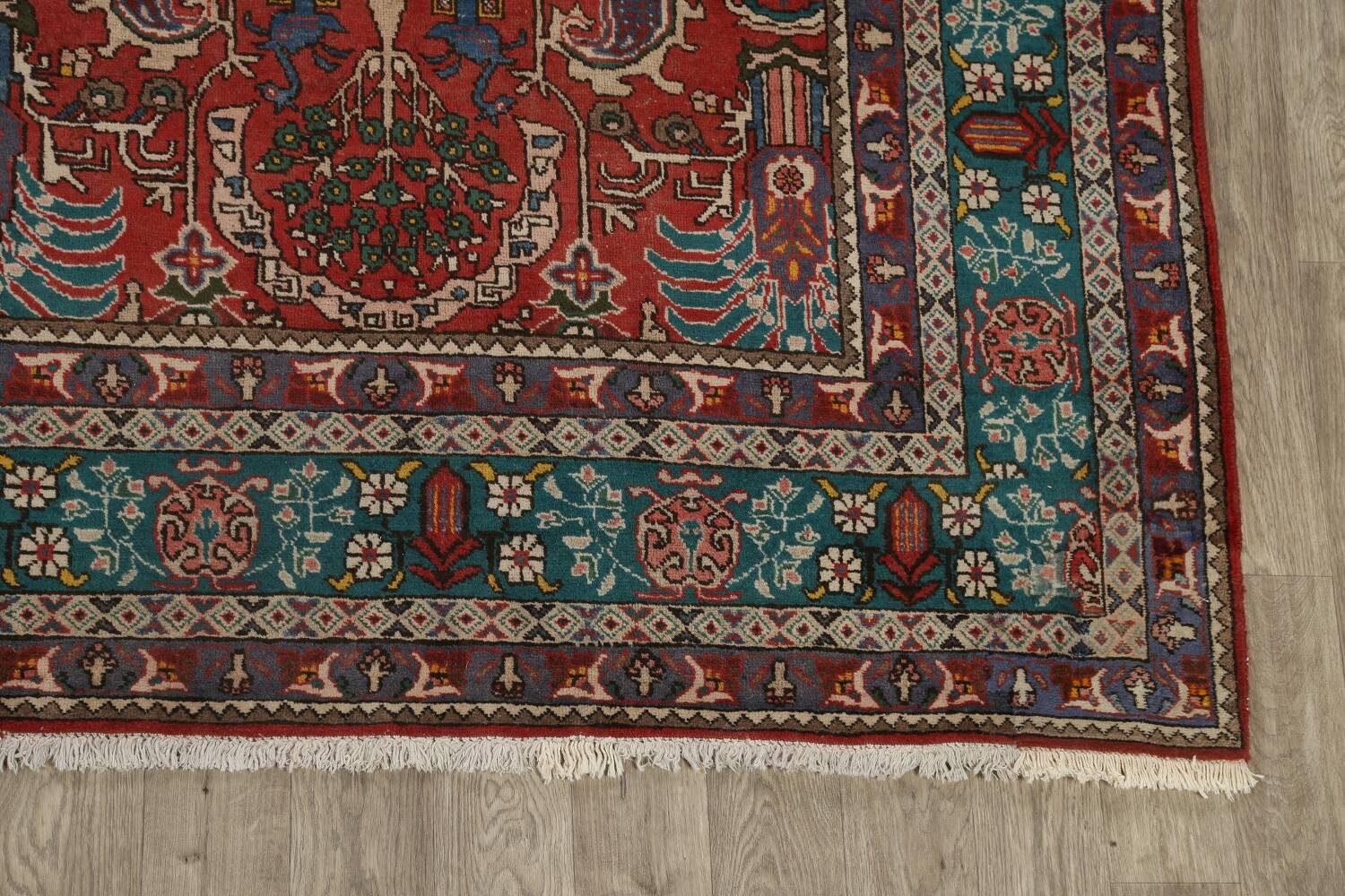All-Over Pictorial Tabriz Persian Area Rug 9x11 image 5