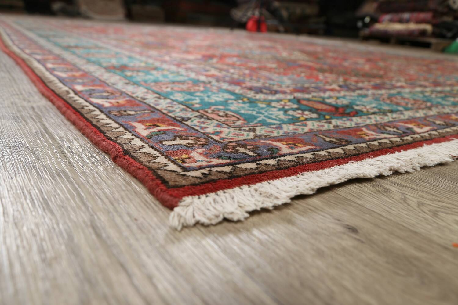All-Over Pictorial Tabriz Persian Area Rug 9x11 image 6