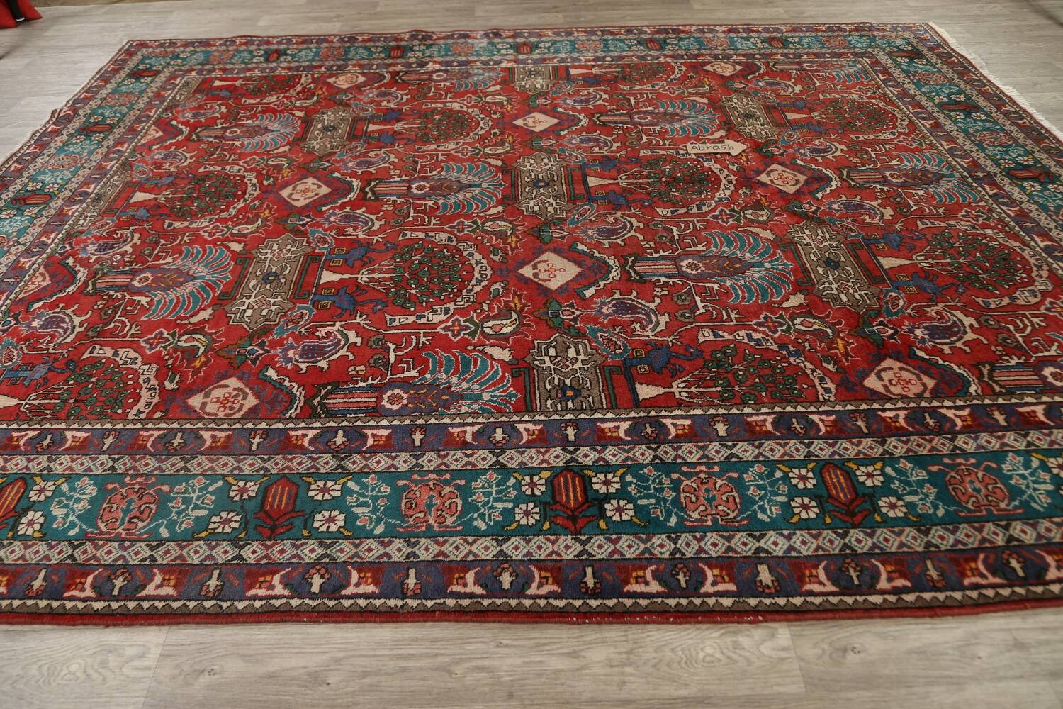 All-Over Pictorial Tabriz Persian Area Rug 9x11 image 13