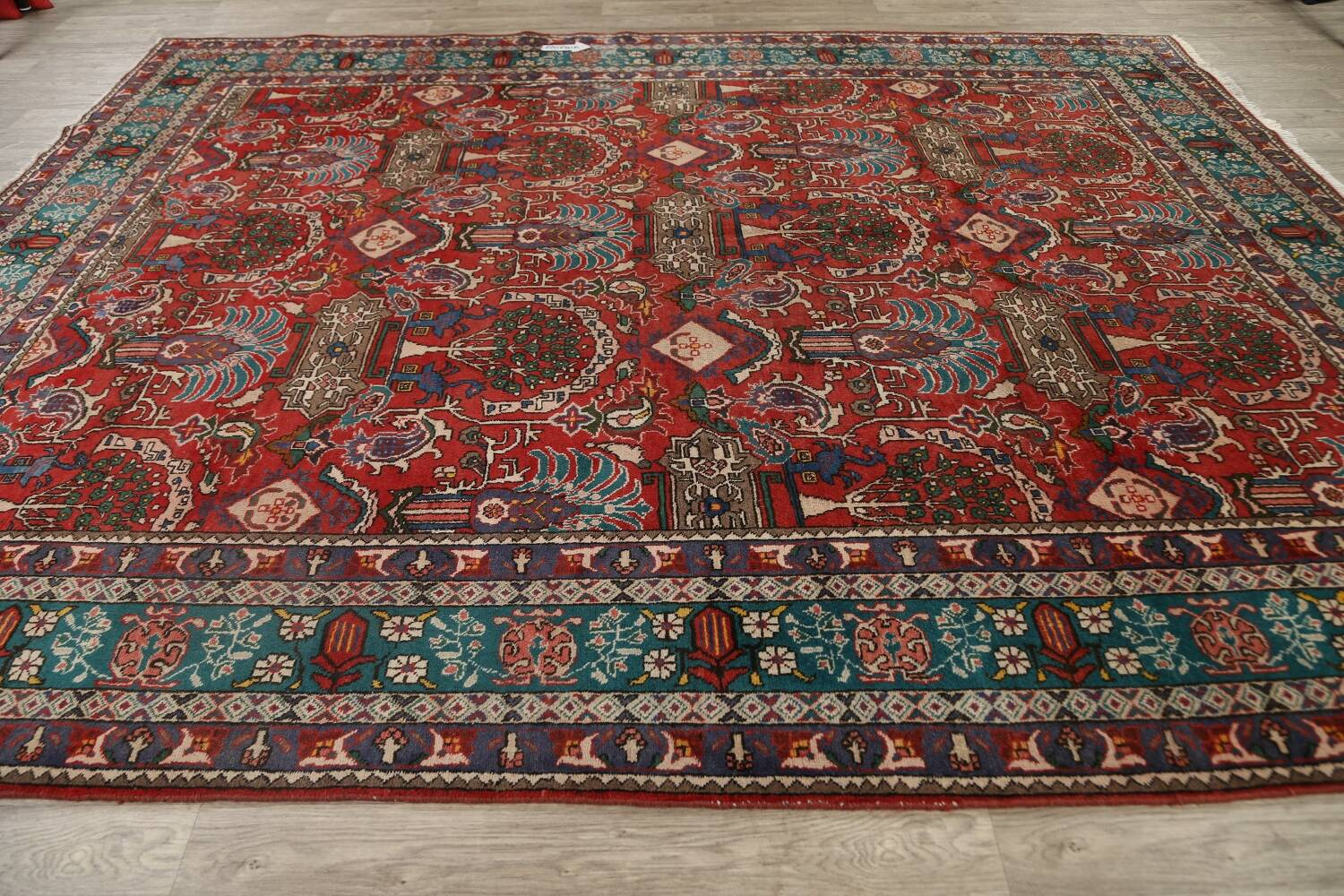 All-Over Pictorial Tabriz Persian Area Rug 9x11 image 17