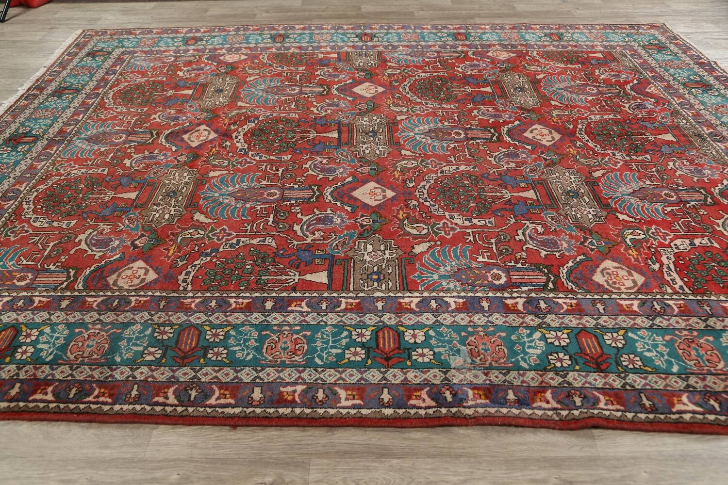 All-Over Pictorial Tabriz Persian Area Rug 9x11 image 20