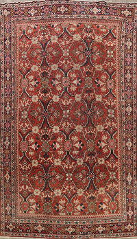 Pre-1900 Antique Vegetable Dye Mahal Persian Area Rug 9x13