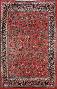 All-Over Floral Sarouk Persian Area Rug 8x10