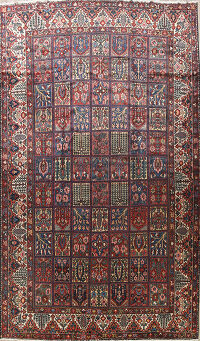 Antique Vegetable Dye Bakhtiari Persian Area Rug 11x15 Large