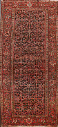 Pre-1900 Antique Vegetable Dye Malayer Persian Area Rug 5x10