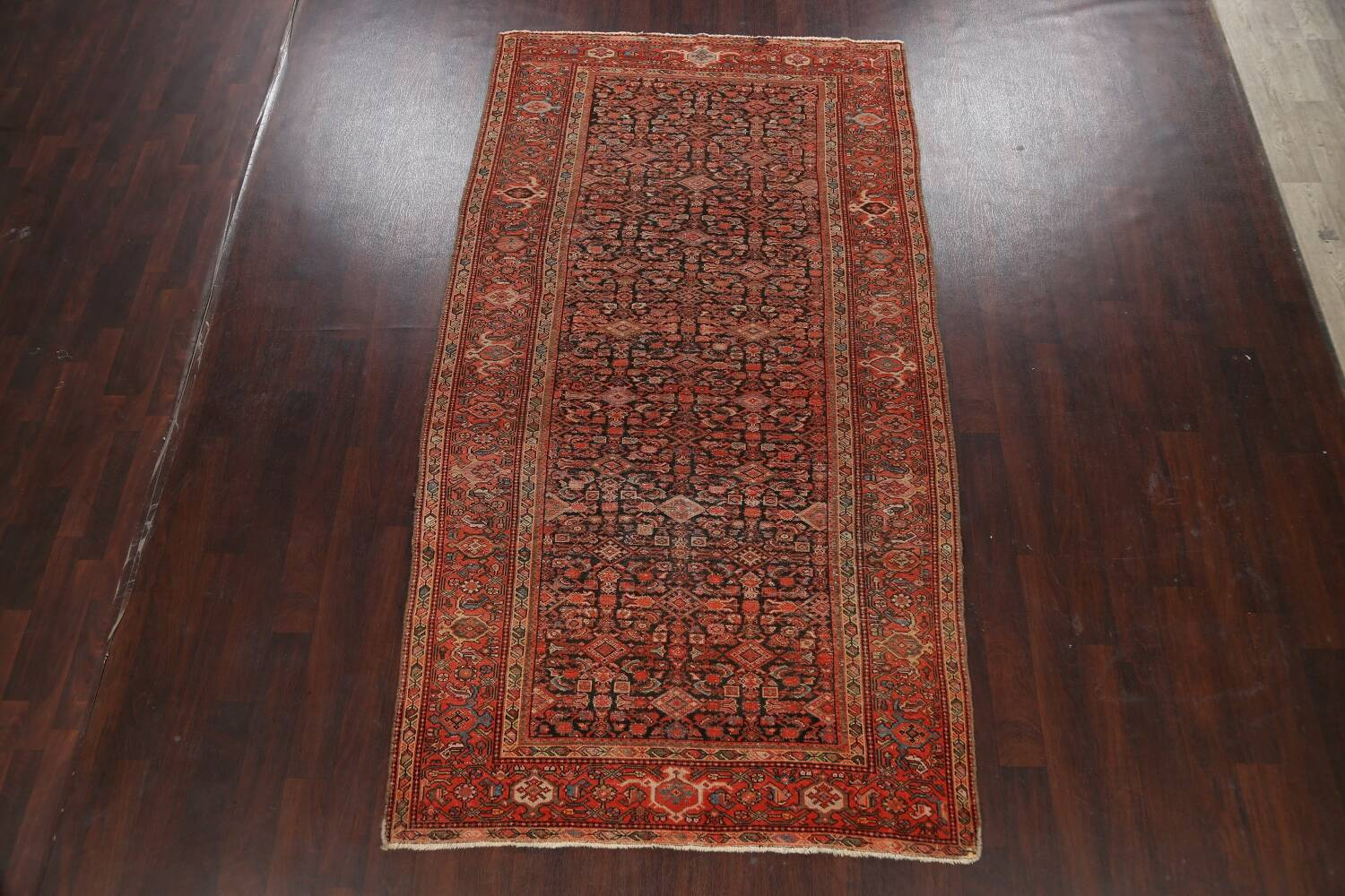 Pre-1900 Antique Vegetable Dye Malayer Persian Area Rug 5x10 image 2