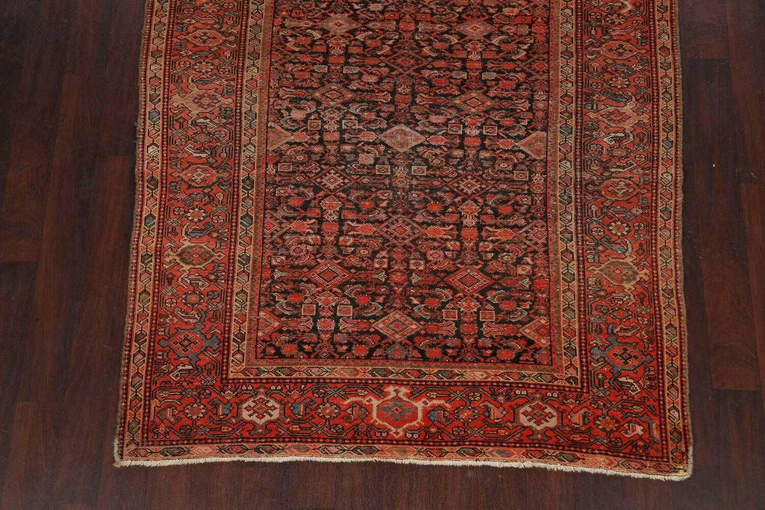 Pre-1900 Antique Vegetable Dye Malayer Persian Area Rug 5x10 image 8