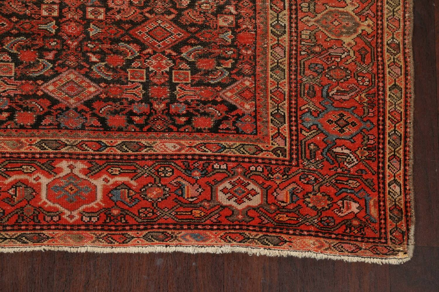 Pre-1900 Antique Vegetable Dye Malayer Persian Area Rug 5x10 image 5