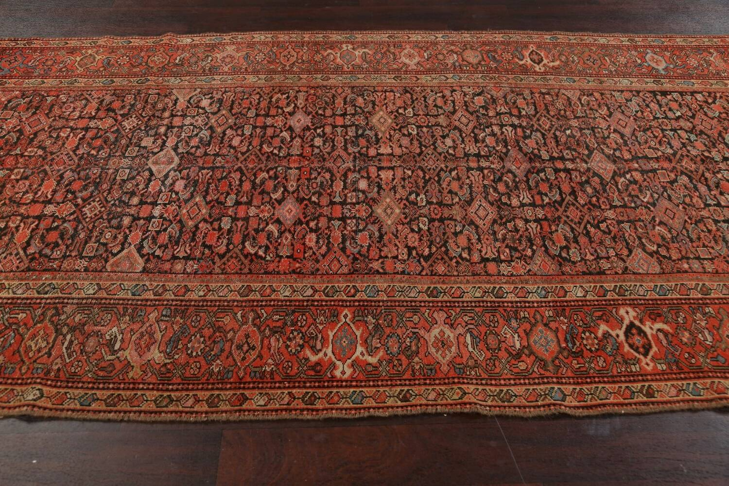 Pre-1900 Antique Vegetable Dye Malayer Persian Area Rug 5x10 image 13