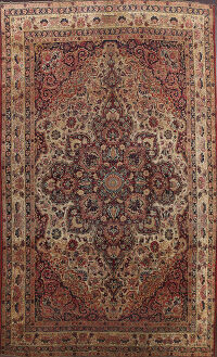 Pre-1900 Antique Vegetable Dye Kerman Persian Area Rug 8x12