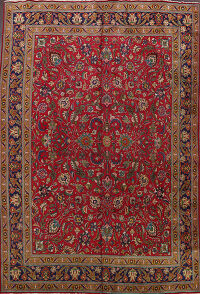 All-Over Floral Tabriz Persian Area Rug 10x12