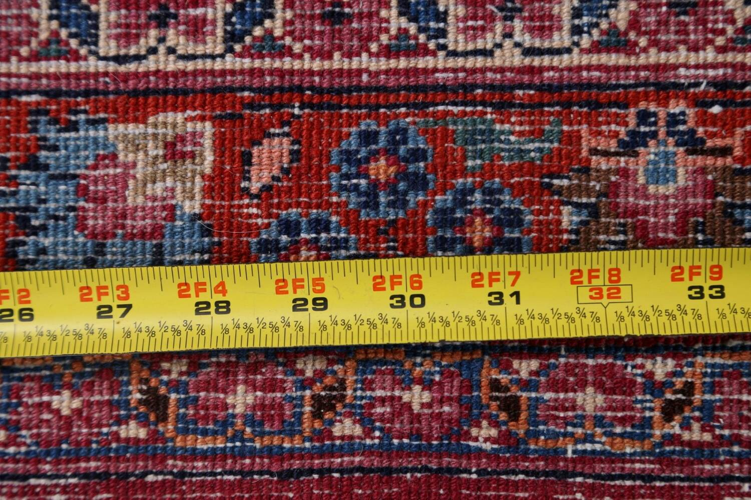 Antique Floral Vegetable Dye Mashad Persian Area Rug 10x13 image 24