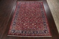 Antique Floral Vegetable Dye Mashad Persian Area Rug 10x13 image 2