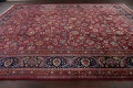 Antique Floral Vegetable Dye Mashad Persian Area Rug 10x13 image 15