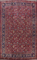 Antique Floral Vegetable Dye Mashad Persian Area Rug 10x13 image 1