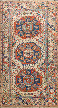 Geometric Anatolian Turkish Oriental Area Rug 6x10