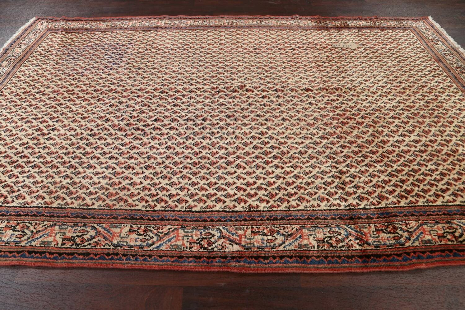 All-Over Boteh Botemir Persian Area Rug 7x11 image 13