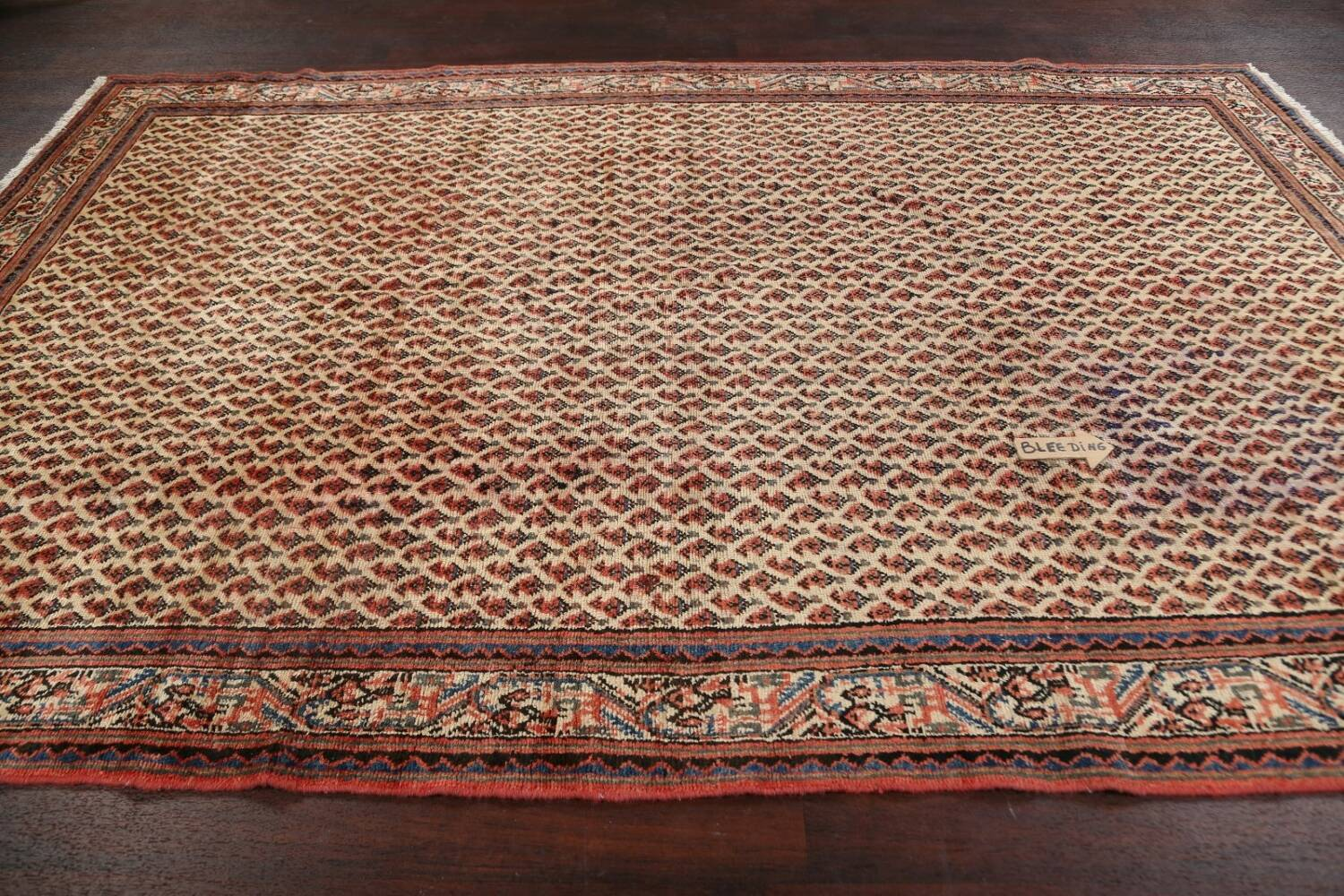 All-Over Boteh Botemir Persian Area Rug 7x11 image 15
