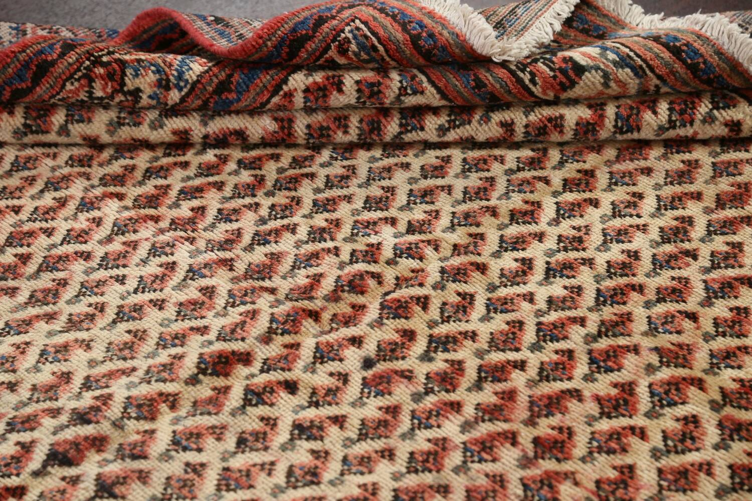 All-Over Boteh Botemir Persian Area Rug 7x11 image 19