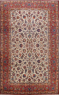 Antique Vegetable Dye Isfahan Persian Area Rug 10x14
