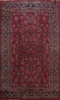Floral Mashad Persian Area Rug 11x16 Large