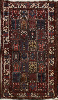 Antique Vegetable Dye Bakhtiari Persian Area Rug 5x7