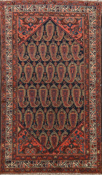 Antique All-Over Malayer Persian Area Rug 4x7
