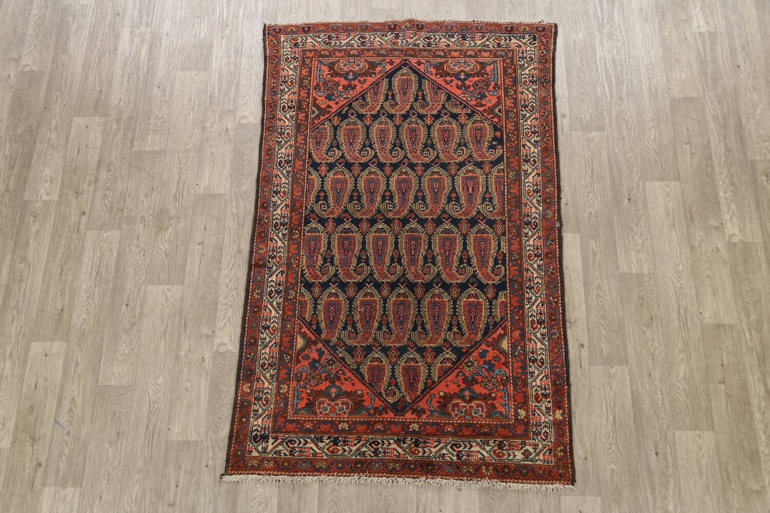 Antique All-Over Malayer Persian Area Rug 4x7 image 2