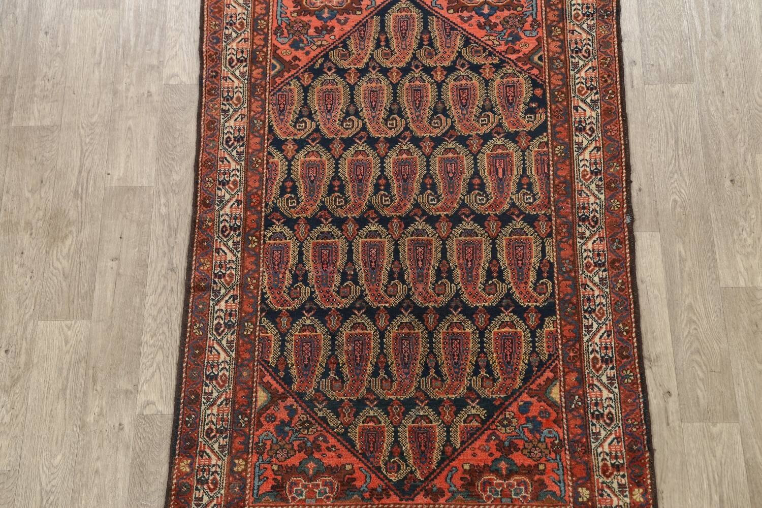 Antique All-Over Malayer Persian Area Rug 4x7 image 3