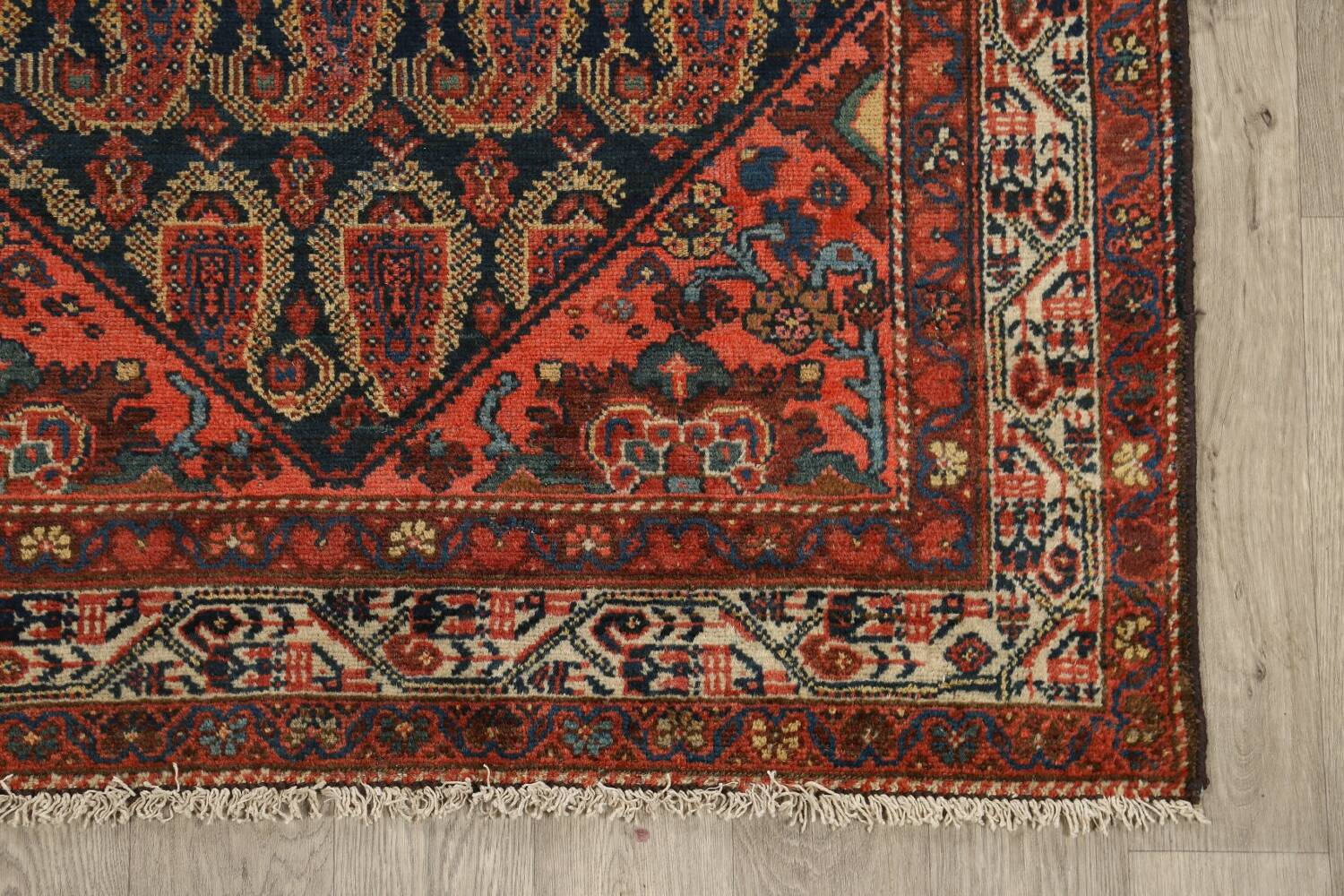 Antique All-Over Malayer Persian Area Rug 4x7 image 5
