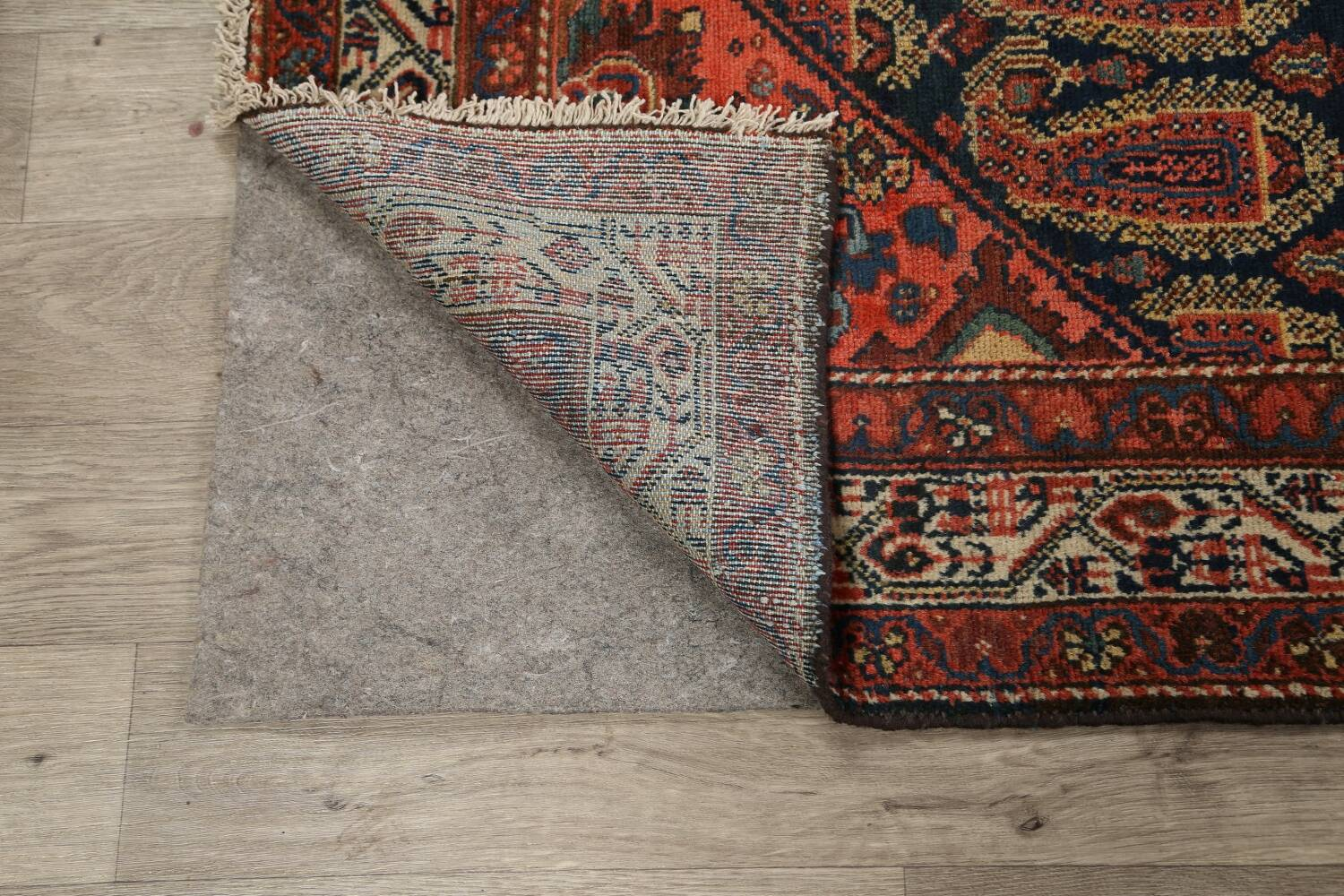 Antique All-Over Malayer Persian Area Rug 4x7 image 7