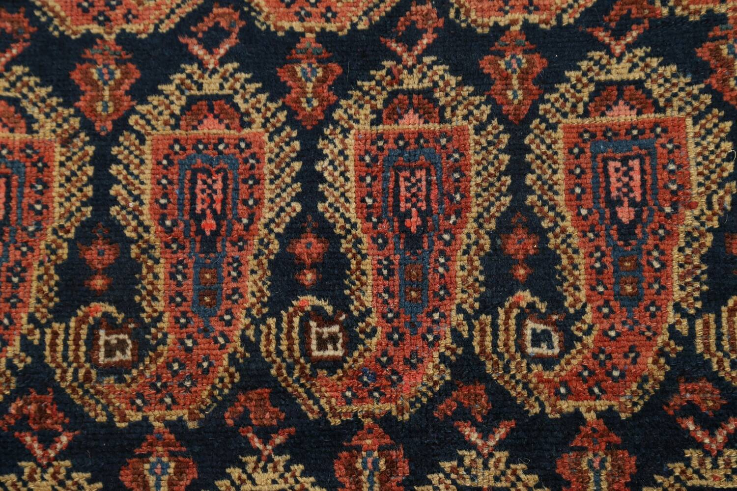 Antique All-Over Malayer Persian Area Rug 4x7 image 9