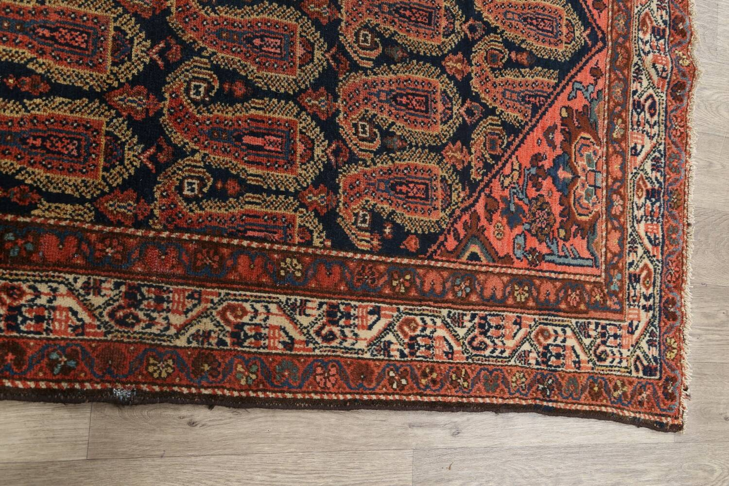 Antique All-Over Malayer Persian Area Rug 4x7 image 13